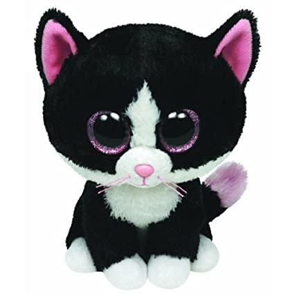 Amazon.com  TY Beanie Boos - PEPPER the Black   White Cat (Glitter Eyes)  (Regular Size - 6 inch)  Toys   Games 914ed1895a5