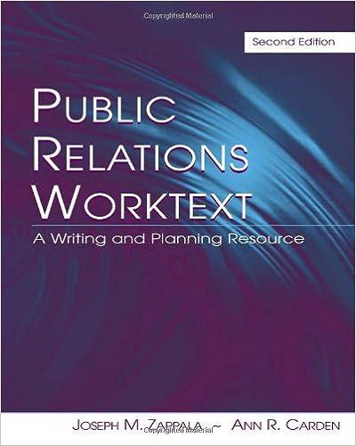 public relations writing worktext zappala joseph m carden ann r