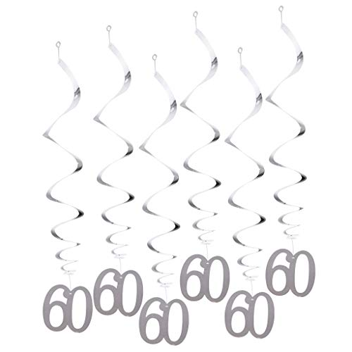 12pcs Numbers 30 Birthday Hanging Swirls Decorations Birthday Anniversary Party Supplier - 60 ()
