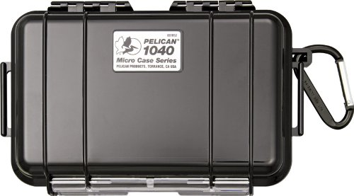Micro Dry Case - Waterproof Case | Pelican 1040 Micro Case - for GoPro, camera, and more (Black)