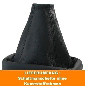 BLAU FADEN SCHALTMANSCHETTE SCHALTSACK LEDER FÜR OPEL VECTRA C 2002-2008