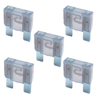 5 x Flachstecksicherung MAXI - Sicherung 25A / 32V / grau K24-Flachstecksicherung MAXI