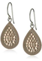 "Anna Beck Designs ""Gili"" 18k Rose Gold-Plated Teardrop Earrings"