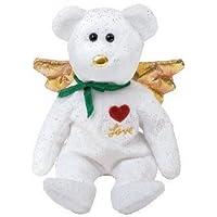 1 X Ty Beanie Baby - Regalo del amor del oso (versión blanca) (Hallmark Gold Crown Ex ...