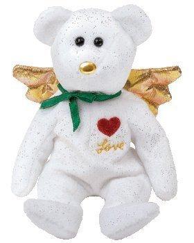 1 X Ty Beanie Baby - Gift the Bear Love (White Version) (Hallmark Gold Crown ()