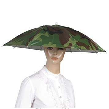 GODHL Sombrero de golf Pesca Camping novedad Sombreros Gorro paraguas sombrero camuflaje