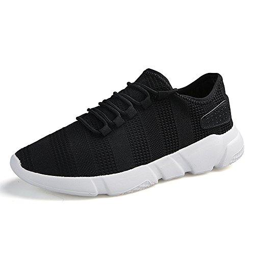 FZUU Baskets pour Homme Chaussure de Sport Homme Sneaker Lacets Fitness Chaussures Noir YaejnRmbd