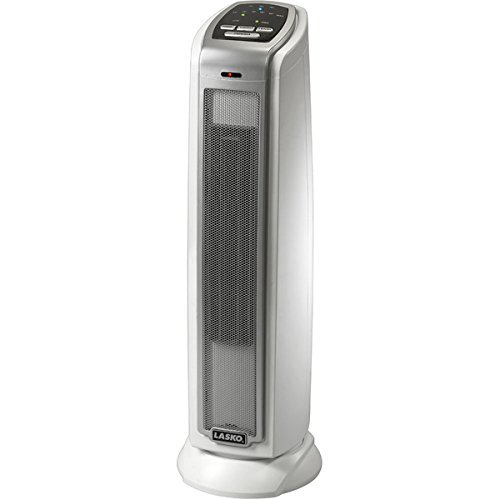 Ocillating Ceramic Tower Heater by Lasko 5775 ,7.7x14.8x16.3, made of Plastic by Lasko