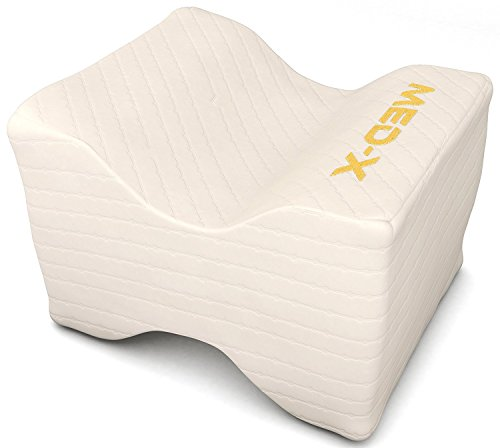 Restful Leg Support - Knee Pillow Pain Relief For Sciatic Nerve , Leg , Back , Pregnancy - Memory Foam Wedge With Breathable Cover