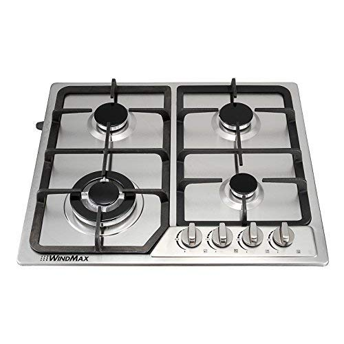Anmas Home 23 Stainless Steel 4 Burner Stoves Gas Hob Cooktops Cooker Gas Oven 11259Btu/H HM46018