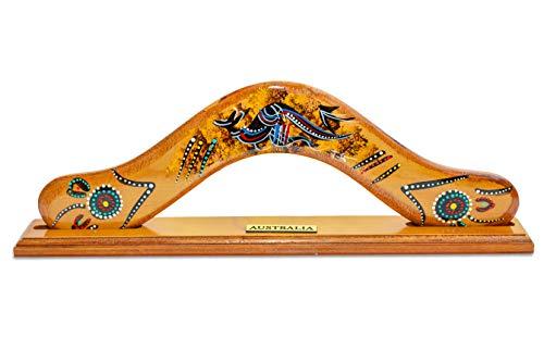 Wooden Boomerang for Home Decor- Australian Aboriginal Art (Australian Boomerang)