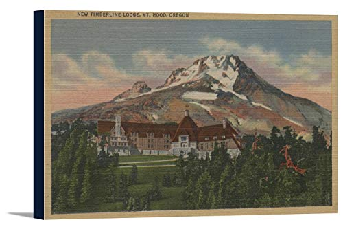 Mount Hood, Oregon - View of the New Timberline Lodge #1 (36x22 3/8 Gallery Wrapped Stretched Canvas) - Timberline Lodge Mount Hood Oregon