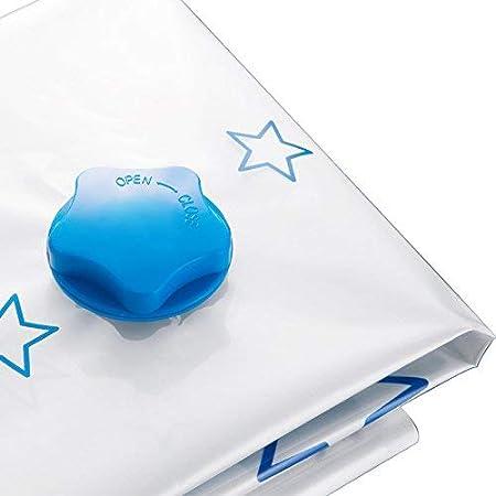 80cmx60cm MiaZhou Aspiradora Bolsa Almacenaje Grueso Aspiradora Comprimido Bolsa Reutilizable Manta Ropa Organizador Bolsas para Hogar