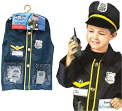 EZSTAX Disfraz de Policía para Niños de Halloween: Amazon.es ...