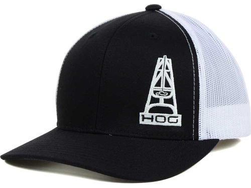 - Hooey HOG Black and White Mesh Trucker Snapback Cap
