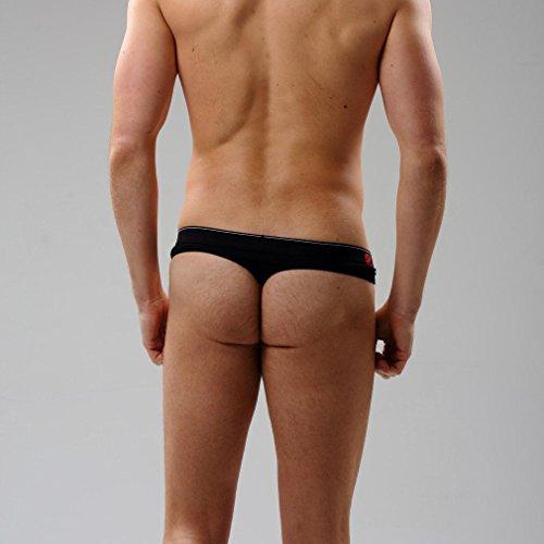 Honghu Solid Color Coton Slip Homme Size M Noir