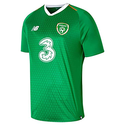(New Balance FAI Republic of Ireland Short Sleeve Home Jersey - Mens - Jolly Green - Small)