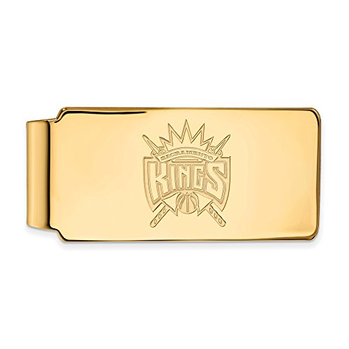 NBA Sacramento Kings Money Clip in 18k Yellow Gold Flashed Silver by LogoArt
