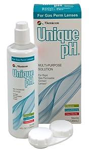 Menicon Unique pH Multi-Purpose Solution + RGP Lens Case, ONE 4 fl oz (120ml) bottle