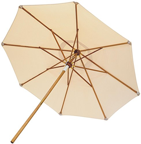 Royal Teak Collection UMBW 10-Foot Deluxe Umbrella, White