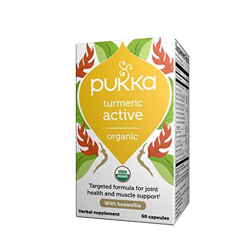 Pukka Organic Turmeric Active Capsules, Herbal Supplement, Pack of 60 Capsules