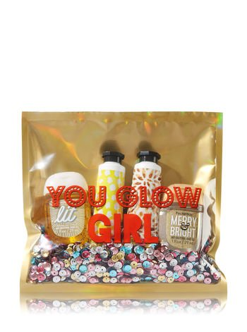 Bath and Body Works You Glow Girl Sparkling Limoncello Vanilla Buttercream Hand Cream and Sparkling Citrus Icicles Pocketbac 4 Piece Set -