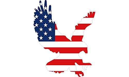 6x5 Large American Eagle USA Flag Die Cut Patriotic Car Decal Window Auto Bumper Sticker Vinyl For Truck RV SUV Boat US (Eagle Die Cut Vinyl Decal)