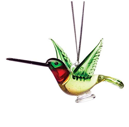 Dynasty Gallery Glass Ruby Throated Hummingbird Christmas Ornament