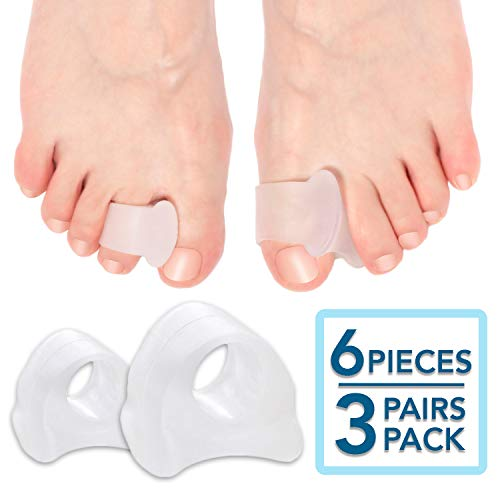 6-Pack Toe Separators, Straighteners & Spacers For Medical, Fitness and Wellness Use | Correct Your Toes Naturally | Great for Pedicure, Bunion Corrector & Yoga (My Big Toe Hurts Under The Nail)