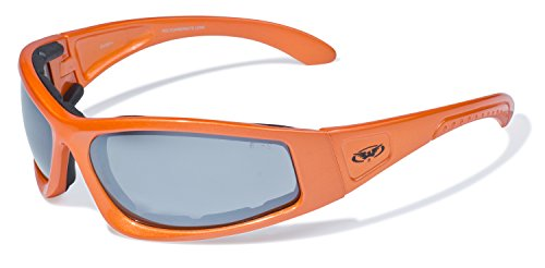r Triumphant Safety Sunglasses with Gloss Orange Frames and Flash Mirror Lenses ()