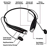 SYSTEM BREAKER® 7-3-0 Wireless Headphone with mic Neckband Bluetooth Headphones Earphone Wireless Headset with Mic for All Smartphones(Black)