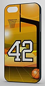 Basketball Sports Fan Player Number 42 Black Rubber Decorative iPhone 5/5s Case