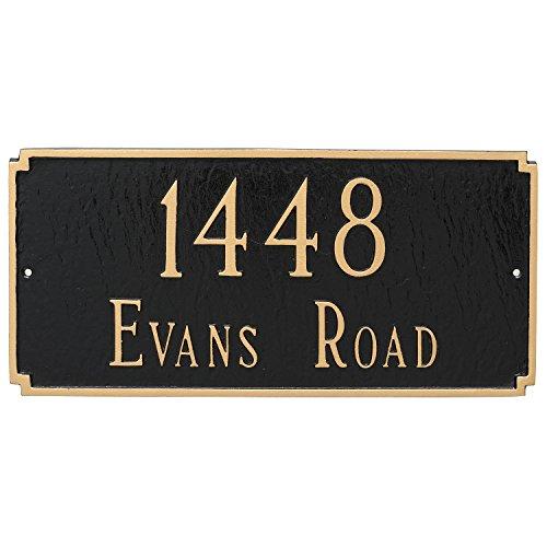 Montague Metal Madison Estate Two Line Address Sign Plaque, 14