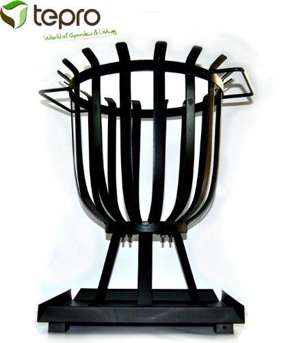 TEPRO Feuerstelle mit Aschenauffangschale Feuerkorb 35 x 35 x 48,5 cm (BxTxH) Feuerschale