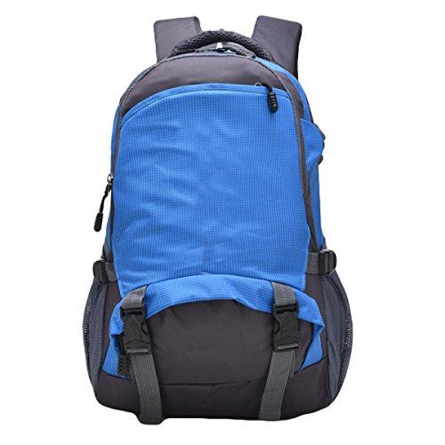25L Al Aire Libre Del Bolso De Hombro Del Alpinismo Los Hombres De Bolso De Viaje Y Mujeres De Montar Morral,RoseRed Blue