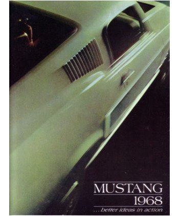 1968 Ford Mustang Sales Brochure Literature Advertisement Option Features