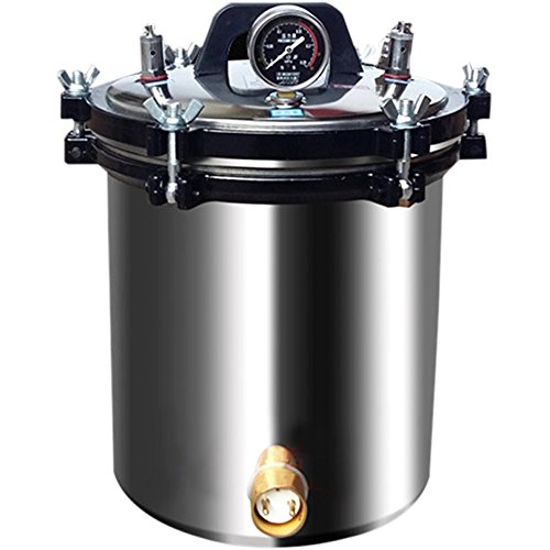 Creative Stainless Steel Portable Autoclave Steam Sterilizer Electric Heated 4.7 Gallon(18L)