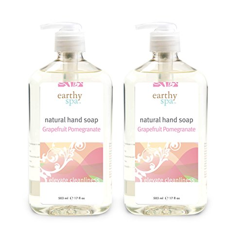 Grapefruit Pomegranate - earthy spa Natural Hand Soap, Grapefruit Pomegranate, 17 Fl. Oz (2-pack)