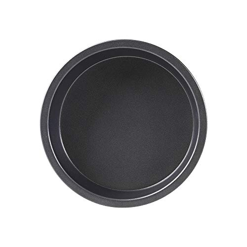 Bakerdream Non-Stick Pizza Pan Carbon Steel Pizza Tray Pie Pans Round Pizza Pan (6 inch)