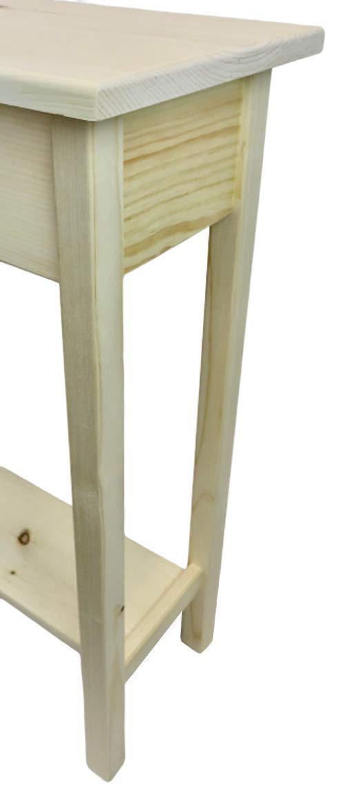 46 Unfinished Console Sofa Table With Bottom Shelf