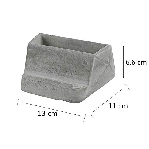 Nicole Silicone Mold for Cement Mobilephone Bracket Handmade Concrete Flowerpot Mould Nordic Original Ornaments