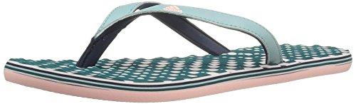 adidas Womens' Shoes | Eezay Dots Athletic Slide Sandals, Tactile Green Haze Coral Collegiate Navy, (10 M US)