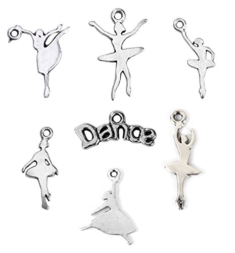 Ballerina Dance Charms, Silhouette Dancers, Random Lot (75 Pack)