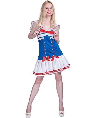 Sailor Girl Halloween Costume (FantastCostumes Women's Sailor Girl Halloween Costume(Blue, Large))