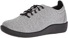 a1832e31e877 CLARKS Women s Sillian Tino Fashion Sneaker Grey Heathered Fabric 5 M US