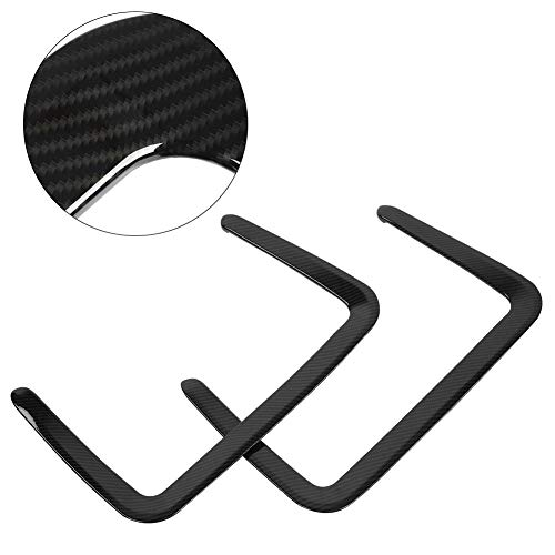 Aramox Rear Seat Back Trim, 2Pcs Carbon Fiber Style Rear Seat Back Frame Cover Trim Sticker for 2017-2018: