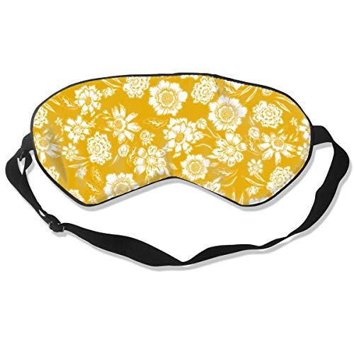 - Floral Pattern Marigold Eye Mask Sleeping Mask 100% Double-Sided Silk Eyeshade Eye Cover