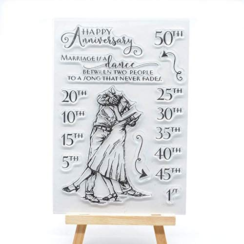 Welcome to Joyful Home 1pc Happy Birthday to You Rubber Clear Stamp for Card Making Decoration and Scrapbooking