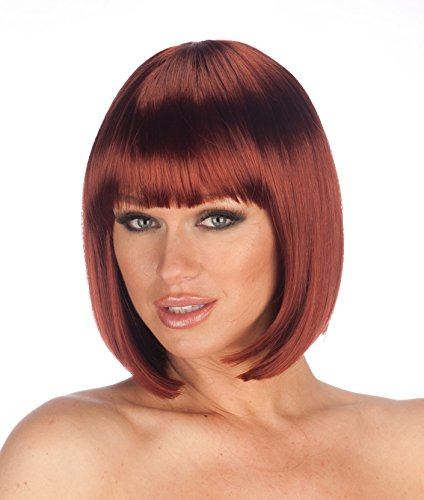 New Look Wigs Women's Premium Quality Bob Wig One - Red Auburn Looks Wig