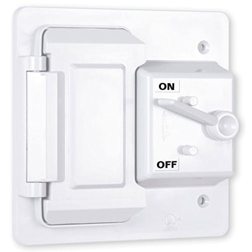 Hubbell-Bell PTC521WH Weatherproof Nonmetallic Cover, (1) Toggle, (1) GFCI, 2-Gang, Vertical, White
